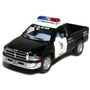 5 Dodge Ram Police Pickup Truck 144 Scale (Black/White
