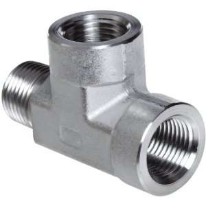 Parker Stainless Steel 316 Pipe Fitting, Street Tee, 1/8 NPT Female x