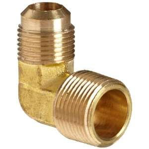 Anderson Metals Brass Tube Fitting, 90 Degree Elbow, 5/8 Flare x 1/2