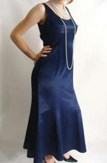 NAVY BLUE Formal Evening Gown Bridesmaid Dress sz 10 M