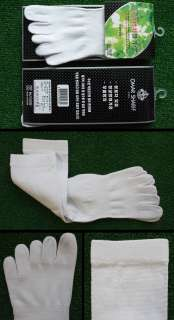 6prs High Quality WHITE five toe socks shoes Anti Bacteria / Odor