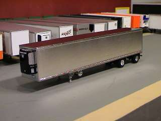 53 REEFER VAN SEMI TRAILER STAINLESS 1/64 DIECAST PROMOTIONS B