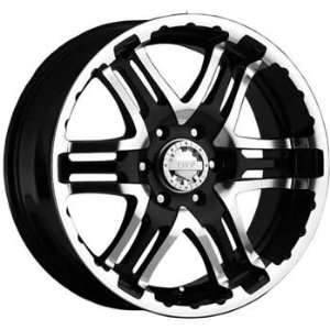 Gear Alloy Double Pump 20x9 Black Wheel / Rim 6x5.5 with a 10mm Offset