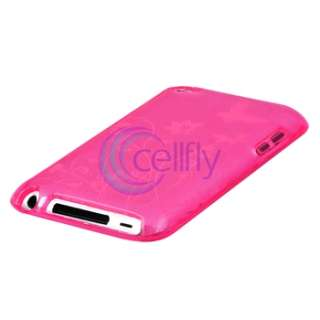 HOT PINK BUTTERFLY CASE COVER FOR APPLE IPOD TOUCH ITOUCH 4 4G 4th GEN