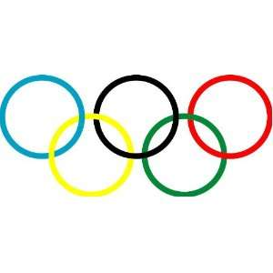 Olympic Flag Auto Car Wall Decal Sticker 9X4