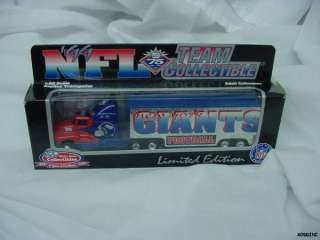 NEW YORK GIANTS NFL TRACTOR TRAILER TRUCK 1999 DIECAST NEW IN BOX