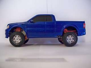 XMODS CUSTOM FORD F150 BLUE OFF ROAD KIT,AWD,STAGE 2,METAL LUG NUTS