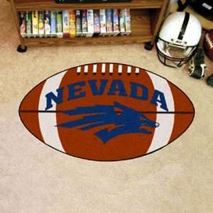NCAA Nevada Wolf Pack 22 x 32 Football Mat Office