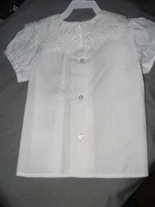 Therese Boutique Girls Shirt White DOILY Dressy Blouse 24M top