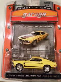 Greenlight MCG 1 Grabber Yellow 69 Ford Mustang Boss 302 Muscle Car