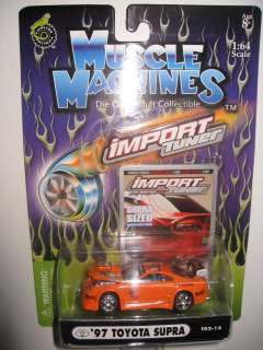 Lot of 18 Rare Collector Muscle Machines Import Tuner HOT Car 164