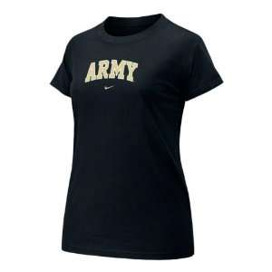 Army Black Knights Womens Nike Black Arch Tee Everything