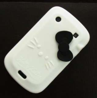 White Hello Kitty Silicone Case Cover For Blackberry Bold 9900 au