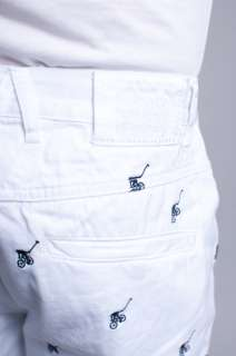 NEW MENS GIRBAUD HIP HOP BRAND X ROLL TWIST WHITE LONG BAGGY SHORTS