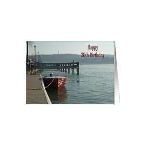 Fishing Boat 20th Birthday Card Card Toys & Games
