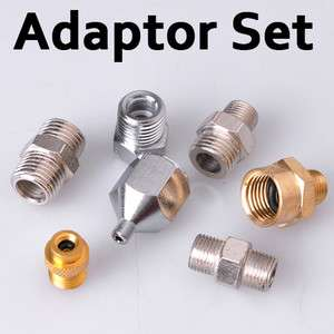7x Adaptor Kit Connector Set For Compressor Airbrush Air Hose Fitting