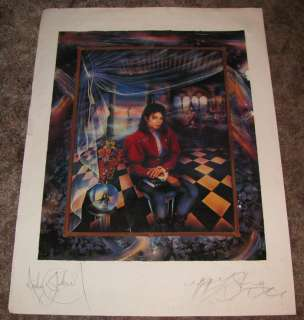 MICHAEL JACKSON 30x40 SIGNED AUTOGRAPHED PSA DNA LITHO JAPAN ED