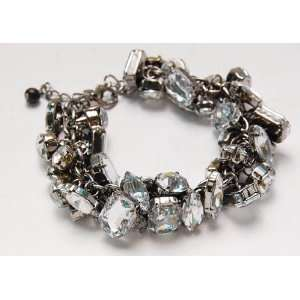 Crystal Acrylic Rhinestone Bead Chain Link Fashion Bracelet Jewelry