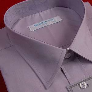 NWT MENS DRESS BUSINESS SHIRTS SOLID GRAY 17.25 XL