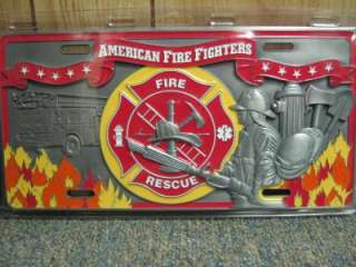 American Fire Fighters Fire Truck/Car License Plate