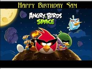 Angry Birds Space Edible Image Cake Topper Personalized 1/4 sheet