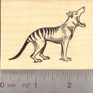 Tasmanian Tiger (Thylacine) Rubber Stamp Arts, Crafts