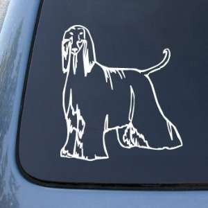AFGHAN   Dog   Vinyl Car Decal Sticker #1481  Vinyl Color White