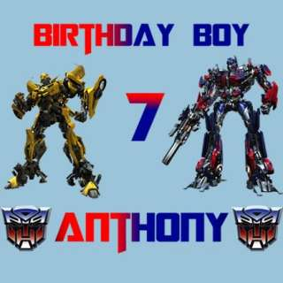 Transformers Autobots Personalized Birthday T Shirt