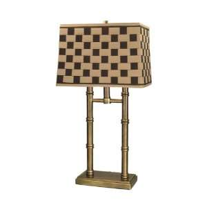 Dale Tiffany PT60348 Laredo Table Lamp, Antique Brass and