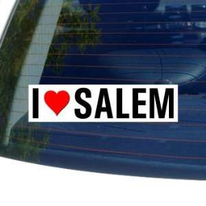 I Love Heart SALEM   Oregon Window Bumper Sticker