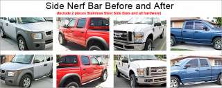 05 11 Toyota Tacoma Double Cab Chrome Side Step Nerf Bars