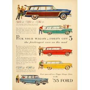 1955 Ad Ford Country Squire Custom Ranch Sedan Wagon
