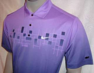 2XL 2011 Nike Tiger Woods Bonded Grid Tour Golf Polo Shirt