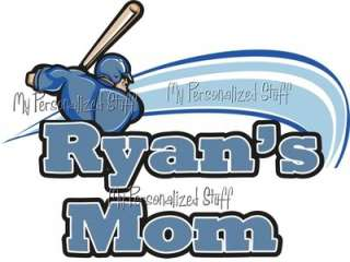 Personalized BASEBALL MOM Sports Fan t shirt Fan Gift Grandma DAD Team