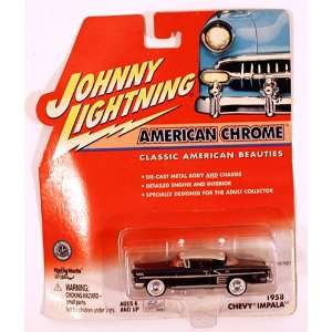 American Chrome Black and White 1958 Chevy Impala Toys & Games