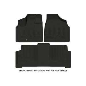 Toyota Prius V wagon Front and Rear Floor Liners (3 Piece Set) [Black