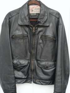 DIESEL INDUSTRIES Black Leather Motorcycle Bomber Jacket LARGE