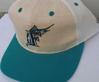 Vtg FLORIDA MARLINS Hat Baseball Cap Snapback Hip Hop Rap Miami