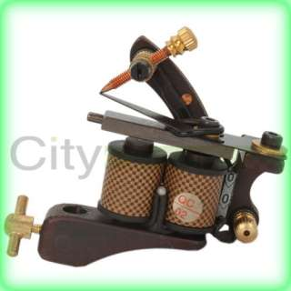 New 8 Wrap Coils New Pro Cast Tattoo Machine Liner Shader Gun Golden