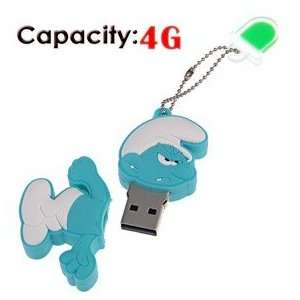 4G Rubber USB Flash Drive with Shape of Angry Smurfs Electronics