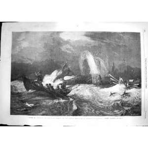 1868 South Sea Whaling Whales Hunting Brierly Fine Art