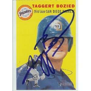 Tagg Bozied Signed Padres 2003 Topps Heritage Card