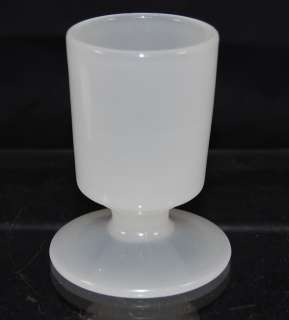 Art Deco Clambroth Glass Round Cigarette Holder Vase