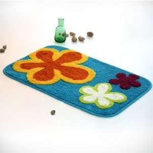 Naomi   [Dancing Flowers   Royal Blue] Kids Room Rugs (19