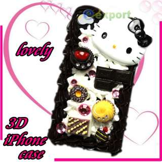 3D Lovely Hello Kitty Cake Hard Case For iPhone 4 4G#15