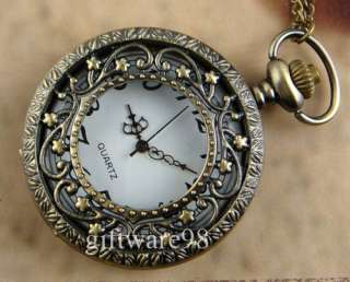 Branches Stars POCKET WATCH NECKLACE PENDANT J0112