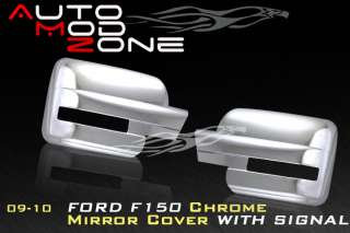 09 10 Ford F 150 Chrome Mirror Cover Show Turn Signal