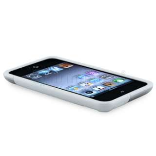 CLEAR WHITE TPU RUBBER Soft SKIN CASE COVER FOR IPOD TOUCH 4TH 4 G GEN