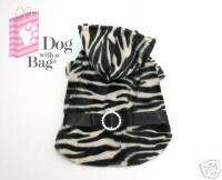 Luxury Zebra Faux Fur Chihuahua Yorkie Dog Coat Small
