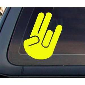 SHOCKER HAND SOLID   6 YELLOW   Vinyl Decal Sticker